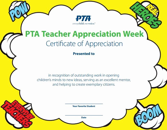 Certificate Of Appreciation for Teachers Inspirational Use This Appreciation Certificate to Personally Thank Your Favorite Student