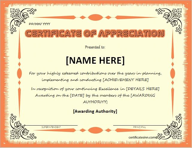 Certificate Of Appreciation for Teachers Luxury Certificates Of Appreciation Templates for Word