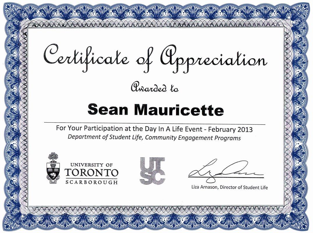 Certificate Of Appreciation Graduation Awesome Awards Aka Subliminal