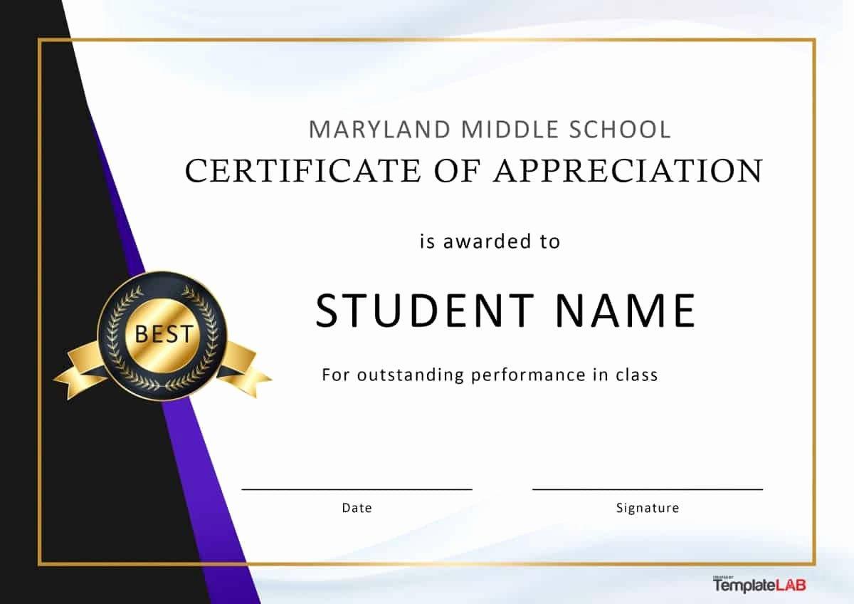 Certificate Of Appreciation Graduation Beautiful 30 Free Certificate Of Appreciation Templates and Letters