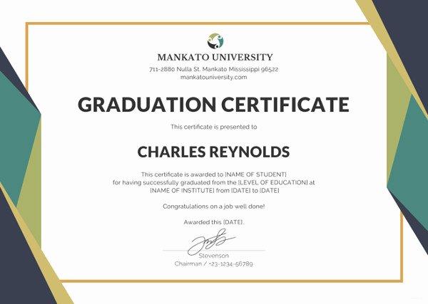 Certificate Of Appreciation Graduation Best Of 18 Graduation Certificate Templates Word Pdf Documents Download