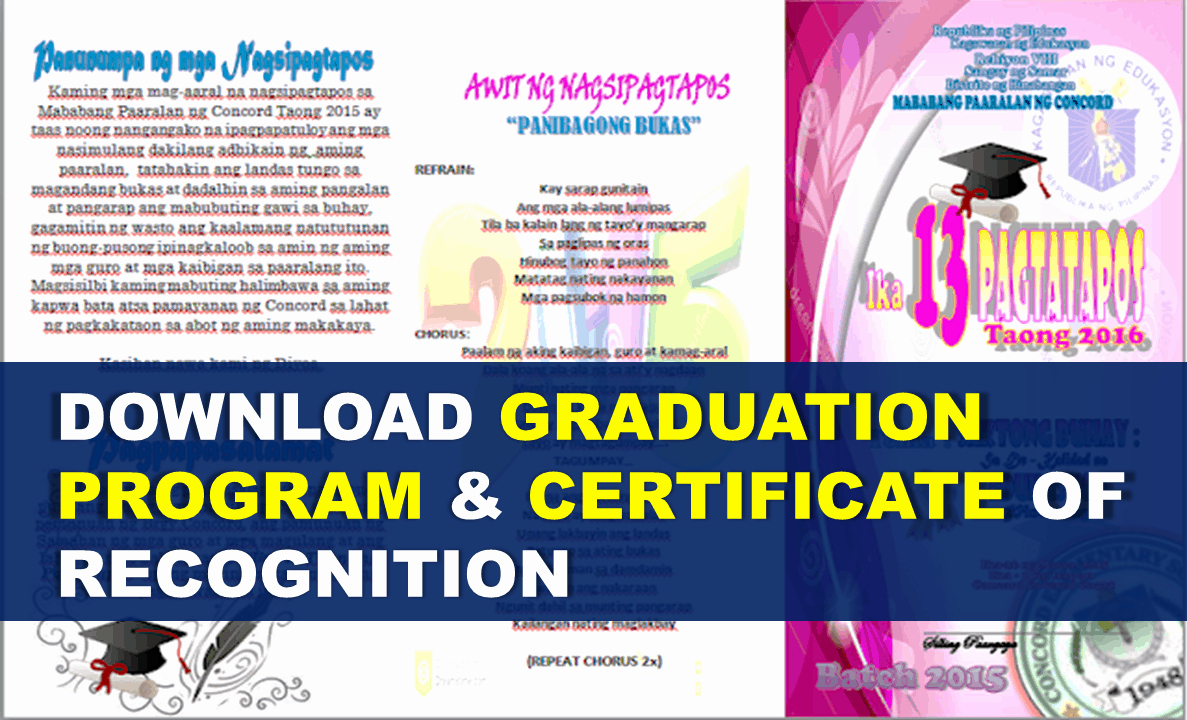 Certificate Of Appreciation Graduation Inspirational Download Graduation Program & Certificate Of Recognition
