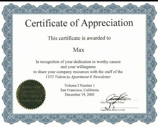 Certificate Of Appreciation Graduation New Certificate Of Appreciation Certificate Template