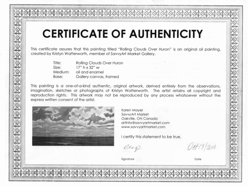 Certificate Of Authenticity Autograph Template Awesome Sample Certificate Of Authenticity for originals