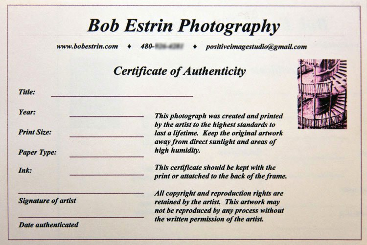 Certificate Of Authenticity Autograph Template Best Of Certificate Authenticity Graphy – Planner Template