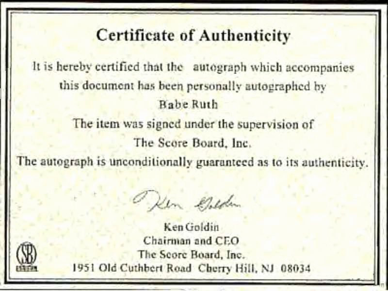 Certificate Of Authenticity Autograph Template Inspirational Autographs News and Notes