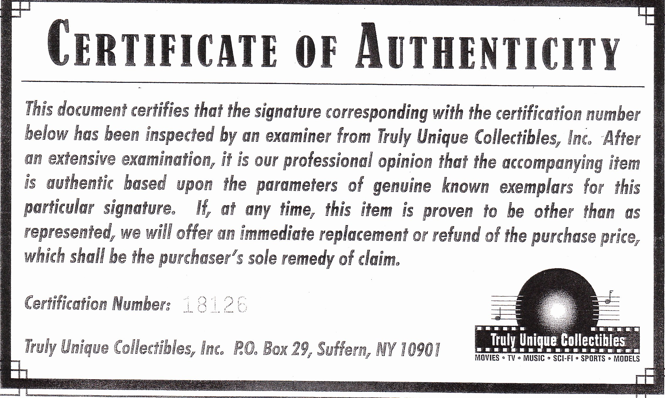 Certificate Of Authenticity Autograph Template Luxury Phony Autograph Authenticators and Fake Coas Mar