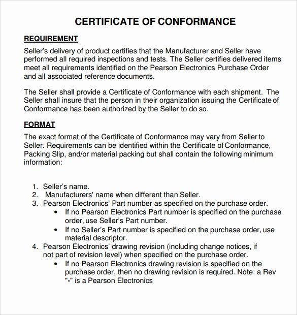 Certificate Of Conformance Template Best Of Sample Certificate Of Conformance 23 Documents In Pdf Word Psd Ai Indesign