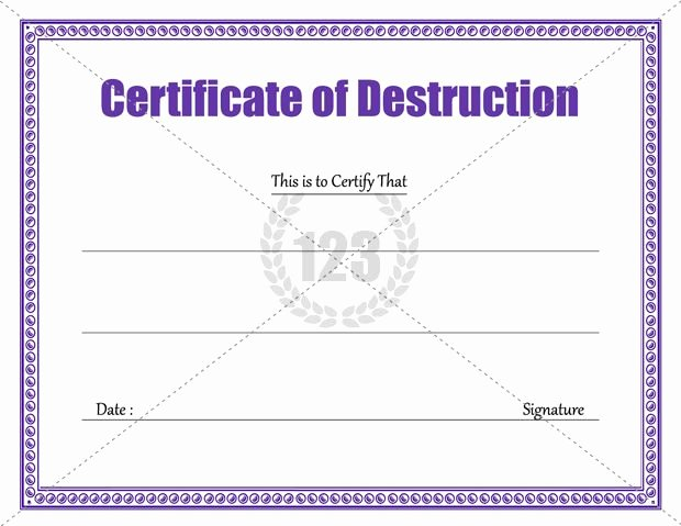 Certificate Of Data Destruction Template Best Of Download Certificate Of Destruction Template 123certificatetemplates Certificate Template