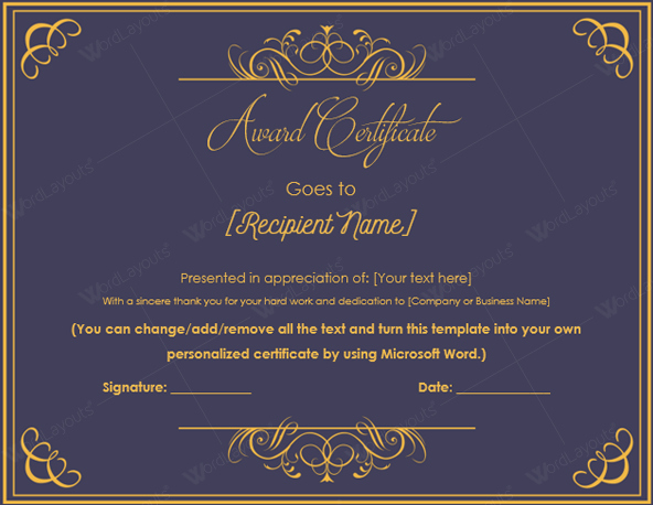 Certificate Of Excellence Template Beautiful 10 Best Award Certificate Templates for 2016