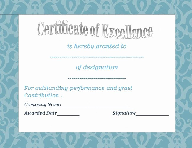 Certificate Of Excellence Template Elegant 22 Best Images About Award Certificate Templates On Pinterest