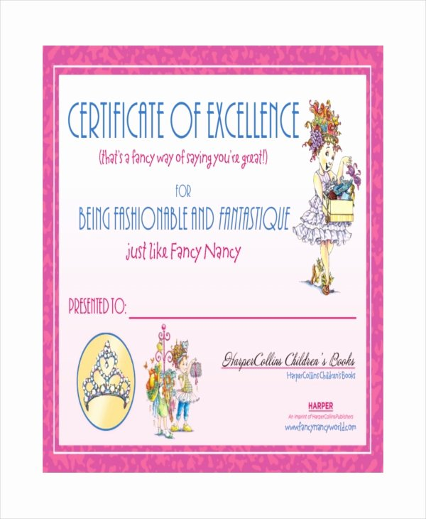 Certificate Of Excellence Template Fresh Excellence Certificate Template 24 Word Pdf Psd format Download
