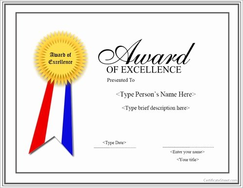 Certificate Of Excellence Template Lovely Free 13 Sample Certificates In Pdf Word