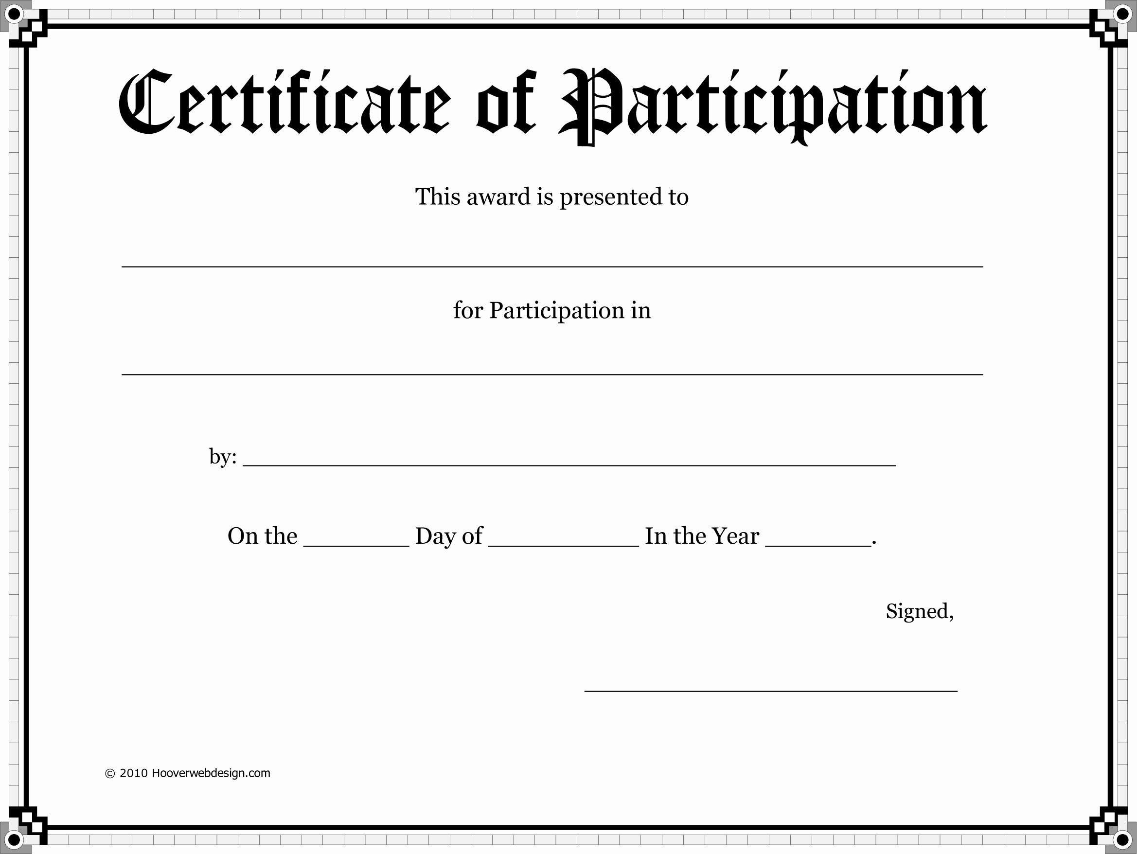 Certificate Of Participation Template Best Of Free Certificate Template Download Free Clip Art Free