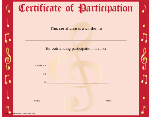 Certificate Of Participation Template Fresh Certificate Templates