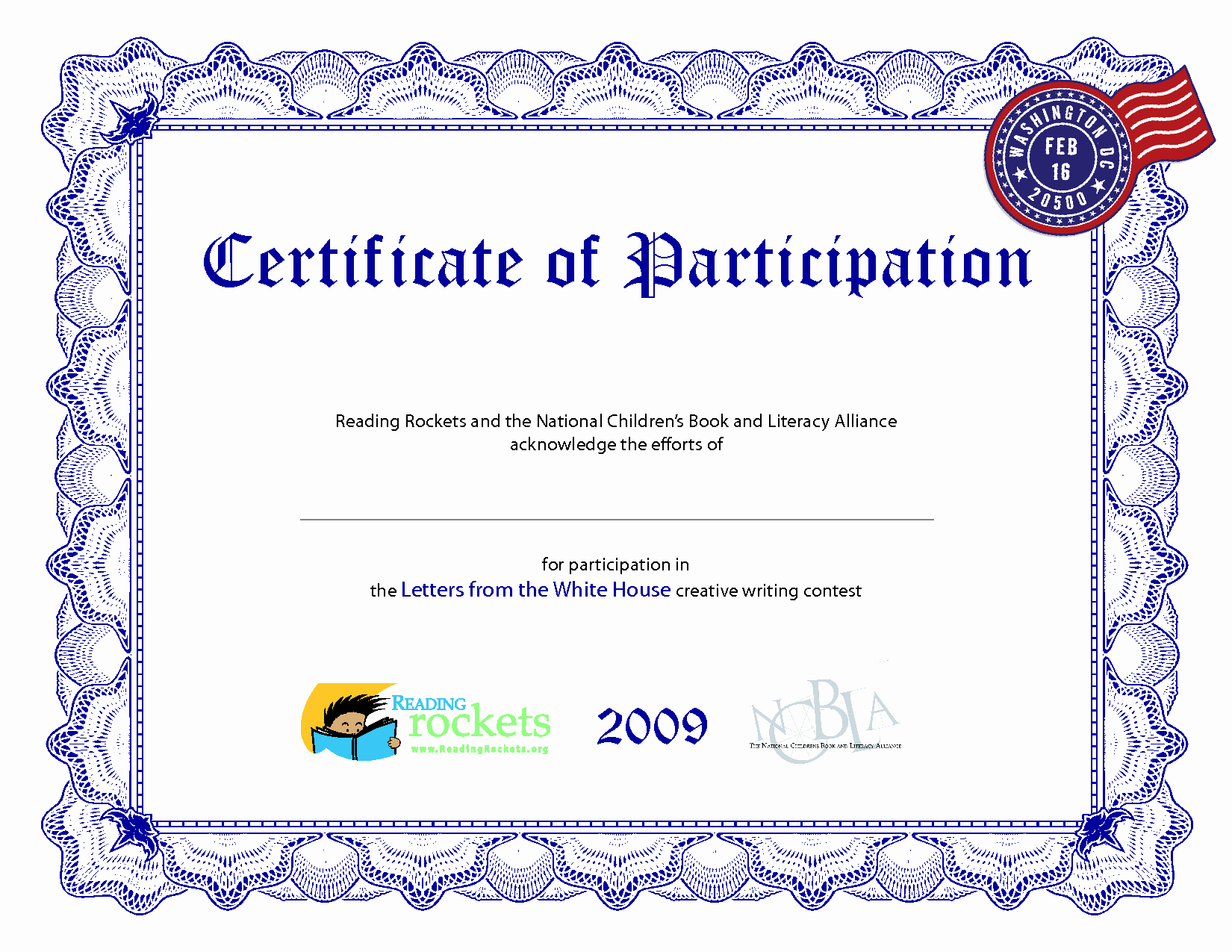 Certificate Of Participation Template Inspirational Certificate Participation Template
