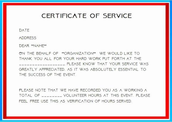 Certificate Of Service Template Beautiful 12 Service Certificate Templates