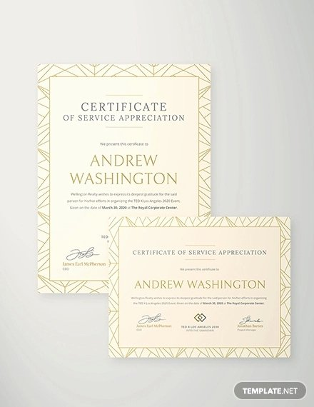 Certificate Of Service Template Beautiful Certificate Of Service Template 15 Word Pdf Psd Ai Indesign Documents Download