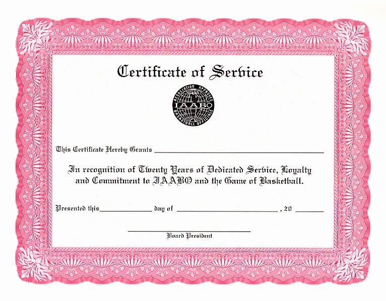 Certificate Of Service Template Unique Printable Word Doc 5 Year Service Award Certificate Template 222
