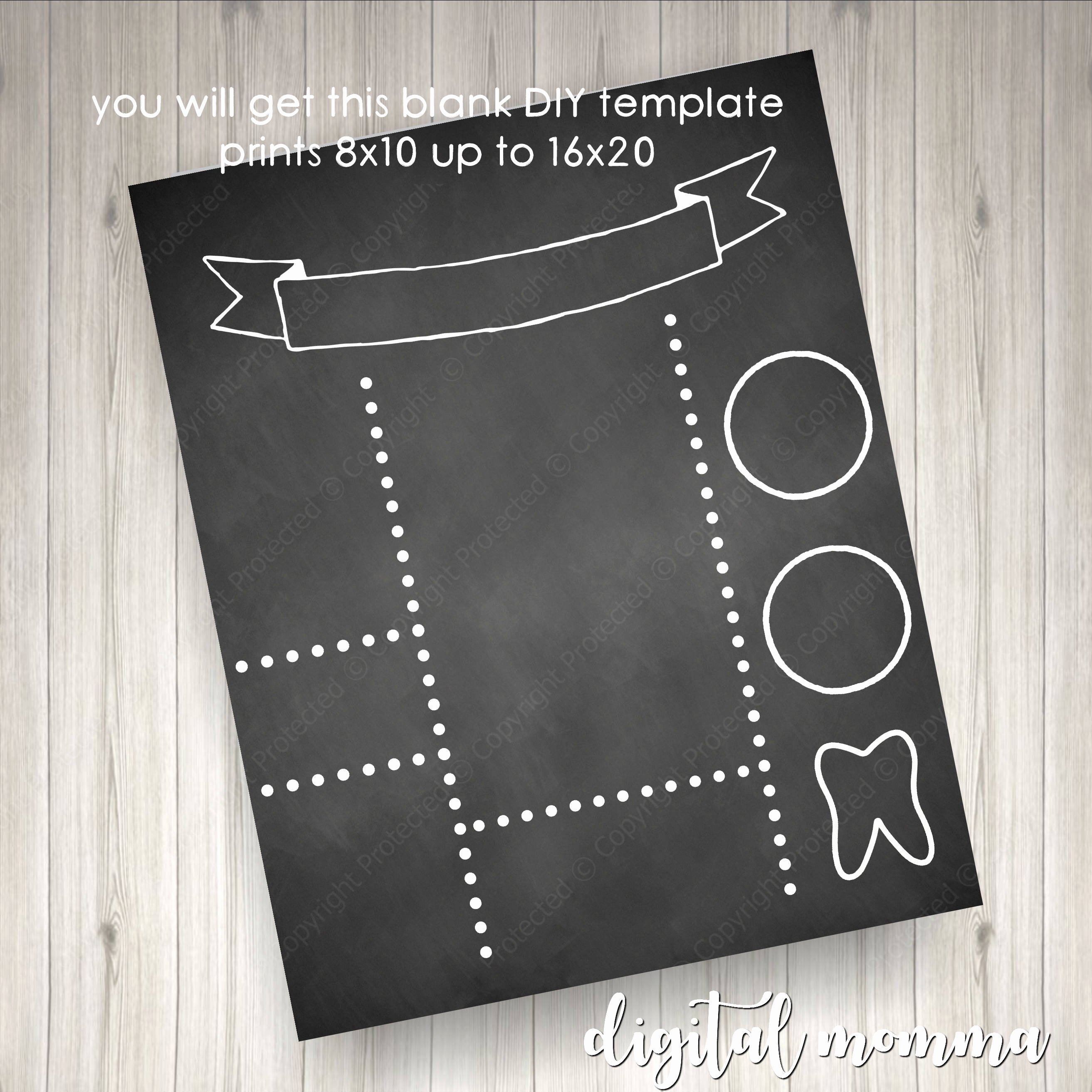 Chalkboard Birthday Sign Template Inspirational Printable Blank Diy Chalkboard Template Birthday Announcement