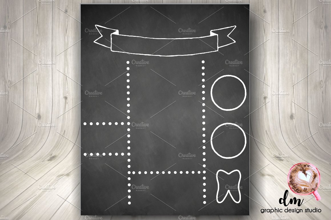Chalkboard Birthday Sign Template Lovely Printable Blank Chalkboard Template Stationery Templates Creative Market