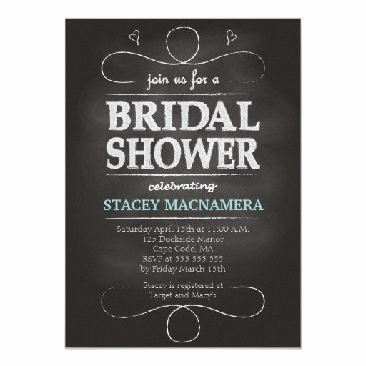 Chalkboard Bridal Shower Invitations Awesome Chalkboard Bridal Shower Invitation
