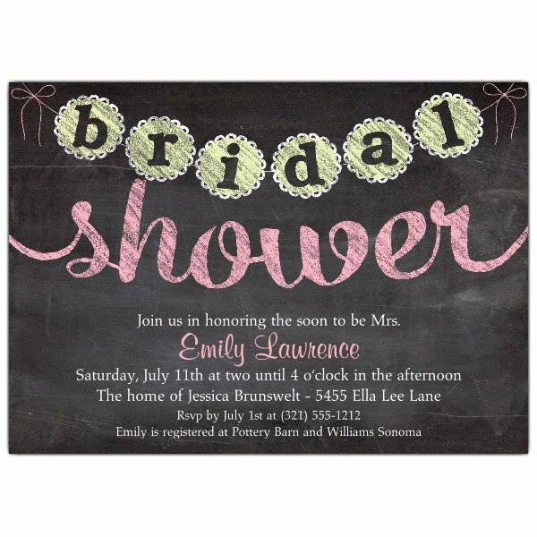 Chalkboard Bridal Shower Invitations Beautiful Chalk Banner Bridal Shower Invitations