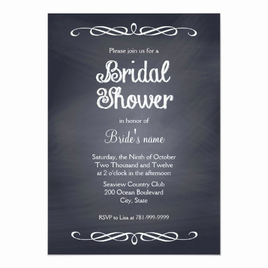 Chalkboard Bridal Shower Invitations Beautiful Vintage Chalkboard Bridal Shower Invitations