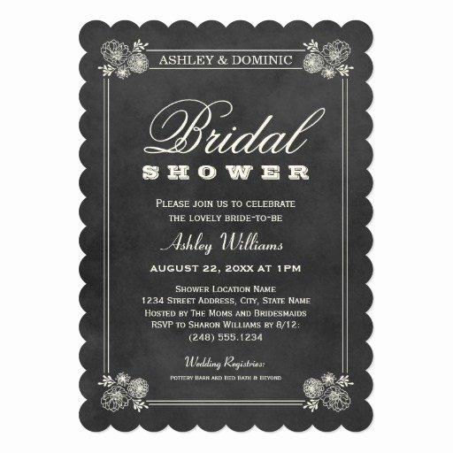 Chalkboard Bridal Shower Invitations Best Of Bridal Shower Invitations Vintage Chalkboard