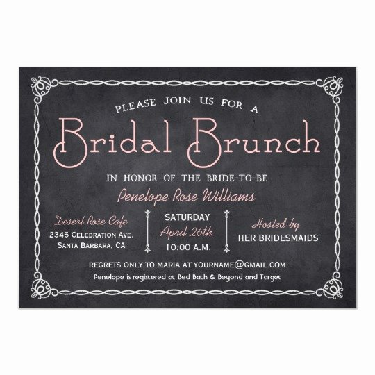 Chalkboard Bridal Shower Invitations Lovely Chalkboard Bridal Brunch Bridal Shower Invitations