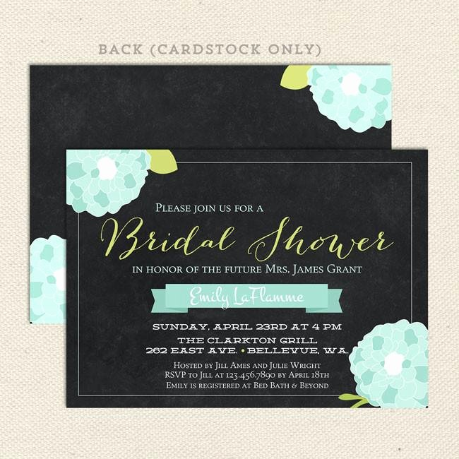 Chalkboard Bridal Shower Invitations Luxury Chalkboard Bridal Shower Invitations – Lil Sprout Greetings