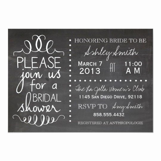 Chalkboard Bridal Shower Invitations New Chalkboard Bridal Shower Invitation