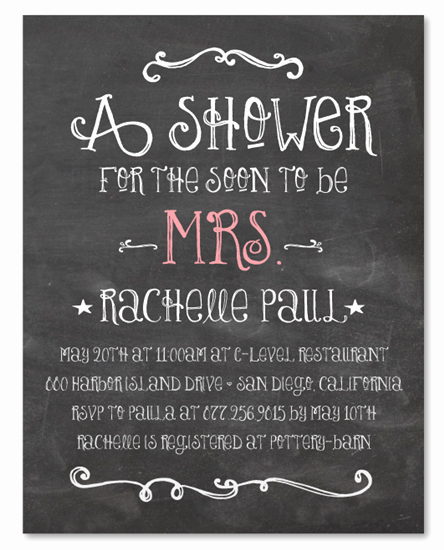 Chalkboard Bridal Shower Invitations Unique Chalk Bridal Shower Invitations On Recycled Paper Happy Board by foreverfiances Weddings