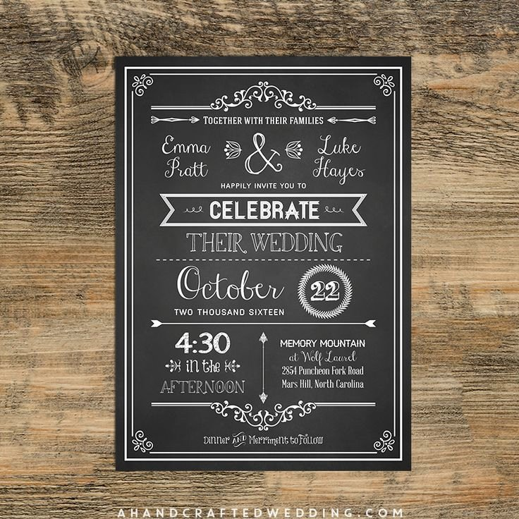 Chalkboard Invitation Template Free Beautiful Check Out This Diy Chalkboard Wedding Invitation Template Via Ahandcraftedwedding