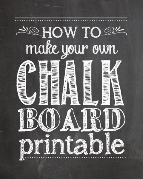 Chalkboard Invitation Template Free Best Of How to Make Your Own Chalkboard Printables How to Nest for Less