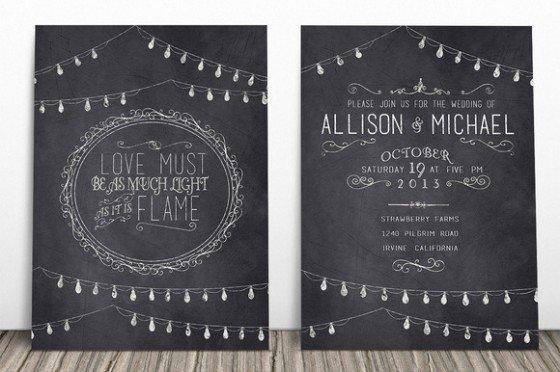 Chalkboard Invitation Template Free Fresh 23 Creative and Unique Wedding Invitations Creative Market Blog
