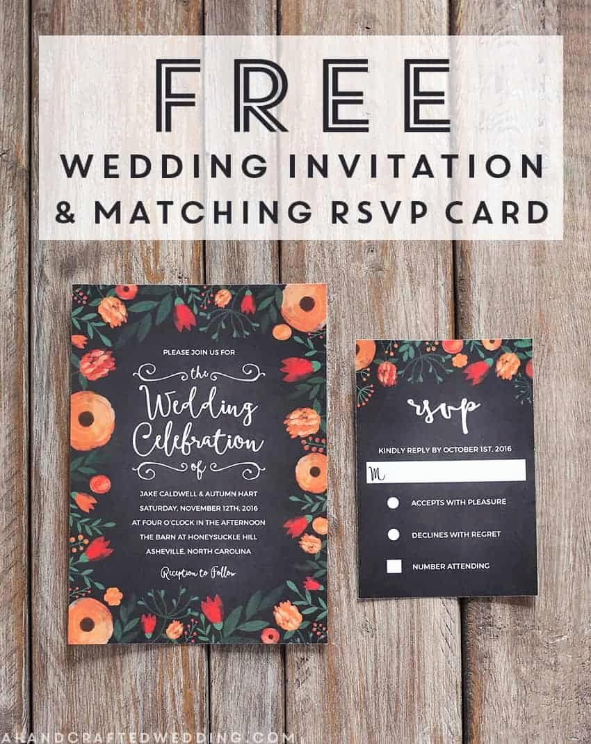 Chalkboard Invitation Template Free New Free Whimsical Wedding Invitation Template