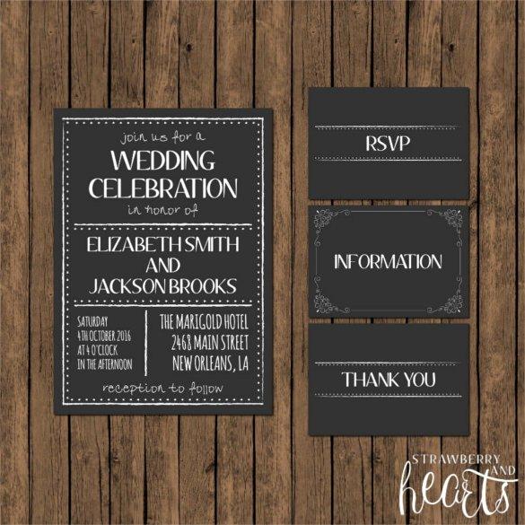 Chalkboard Invitation Template Free Unique 26 Chalkboard Wedding Invitation Templates – Free Sample Example format Download