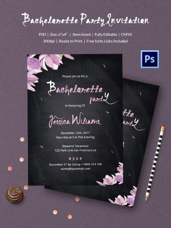 Chalkboard Invitation Template Free Unique Chalkboard Invitation Template 45 Free Jpg Psd Indesign format Download