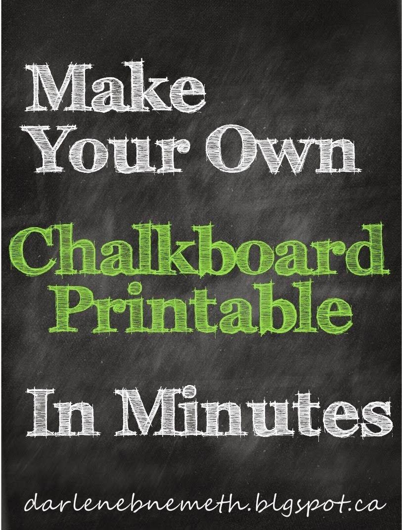 Chalkboard Poster Template Free Beautiful Darlene Nemeth Make A Chalkboard Printable In Minutes