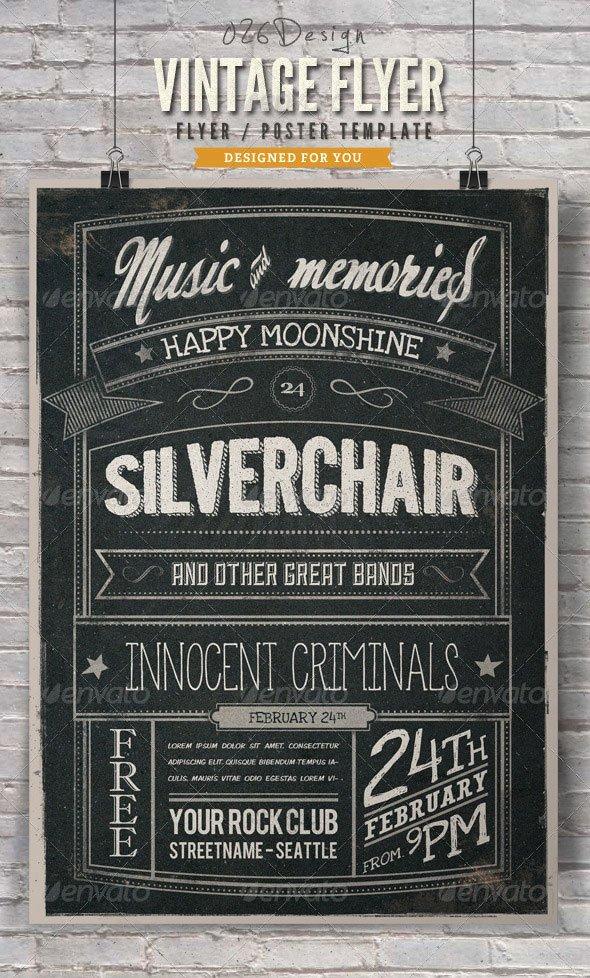 Chalkboard Poster Template Free Lovely 20 Cool Chalkboard Flyer Templates Print