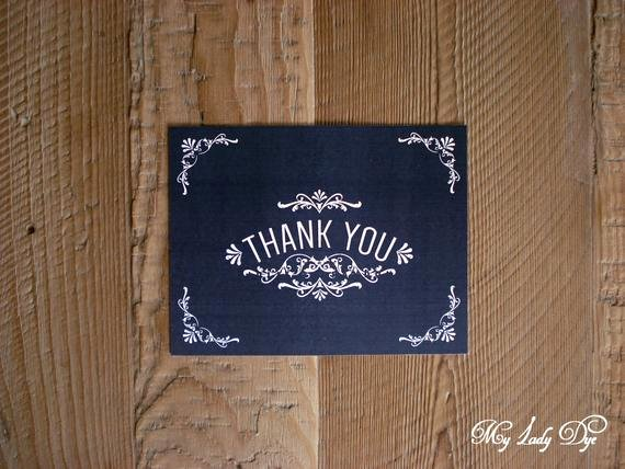 Chalkboard Thank You Cards Beautiful 100 Vintage Chalkboard Thank You Note Cards the Julie