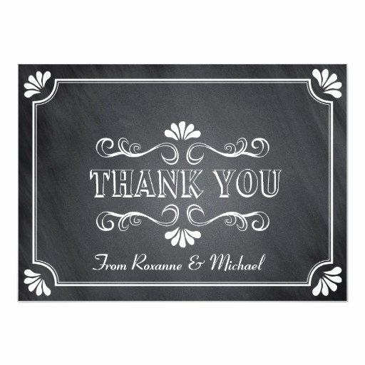 Chalkboard Thank You Cards Elegant Vintage Chalkboard Thank You Note Card
