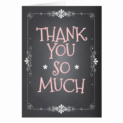Chalkboard Thank You Cards Elegant Vintage Chalkboard Thank You so Much Card
