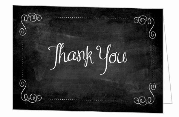 Chalkboard Thank You Cards Lovely Chalkboard and Purple Graduation Thank You Card