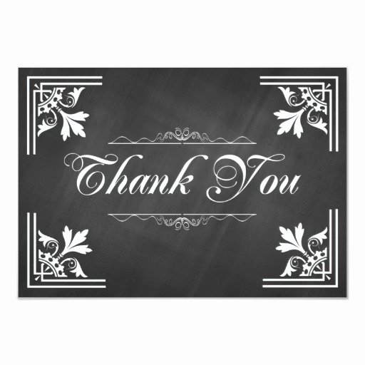 Chalkboard Thank You Cards Luxury Trendy Chalkboard Thank You Cards