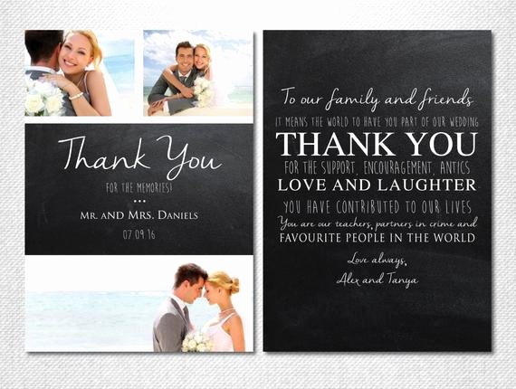 Chalkboard Thank You Cards New Chalkboard Thank You Wedding Thank You by Lovestoryinvitations