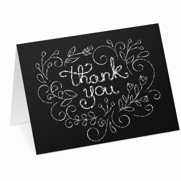 Chalkboard Thank You Cards Unique Chalkboard Heart Thank You Note Cards