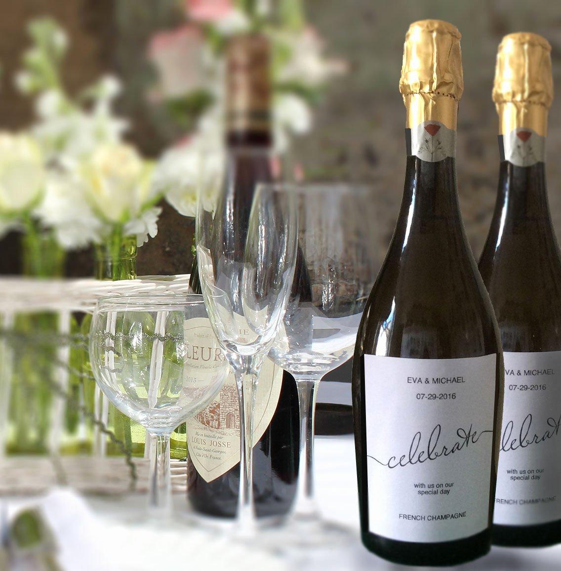 Champagne Bottle Label Template Elegant Printable Wine Label Celebration Bottle Template Wedding