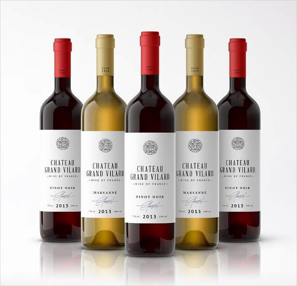 Champagne Bottle Label Template Elegant Wine Label 22 Free Psd Vector Ai Eps format Download